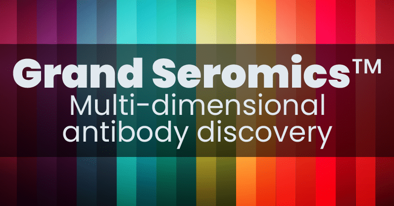 grand seromics multi dimensional antibody discovery button by CDI Labs